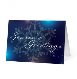 Linguistic Snowflake Greeting Christmas Card