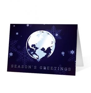 Around the World Greeting Christmas Card