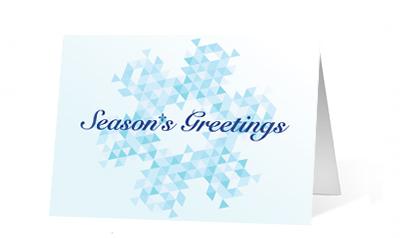 Geometric Greetings Holiday Card