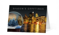 City Snow Globe Greeting Card