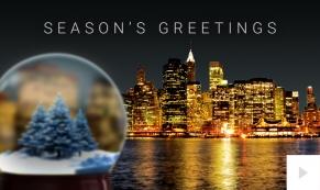 City Snowglobe Holiday ecard thumbnai