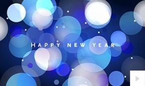 Spiral Glimmer New Year Ecard