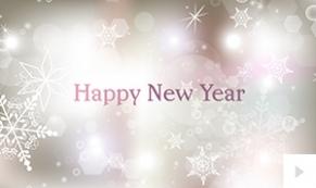 Snowflake Light New Year Ecard