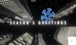 city skyward corporate holiday ecard thumbnail