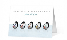 18. Roly Poly Penguins corporate holiday print thumbnail