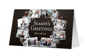 18. Wreath Snapshots corporate holiday print thumbnail